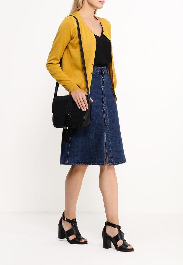 модный кардиган желтый