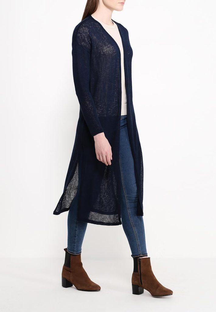 модный кардиган синий