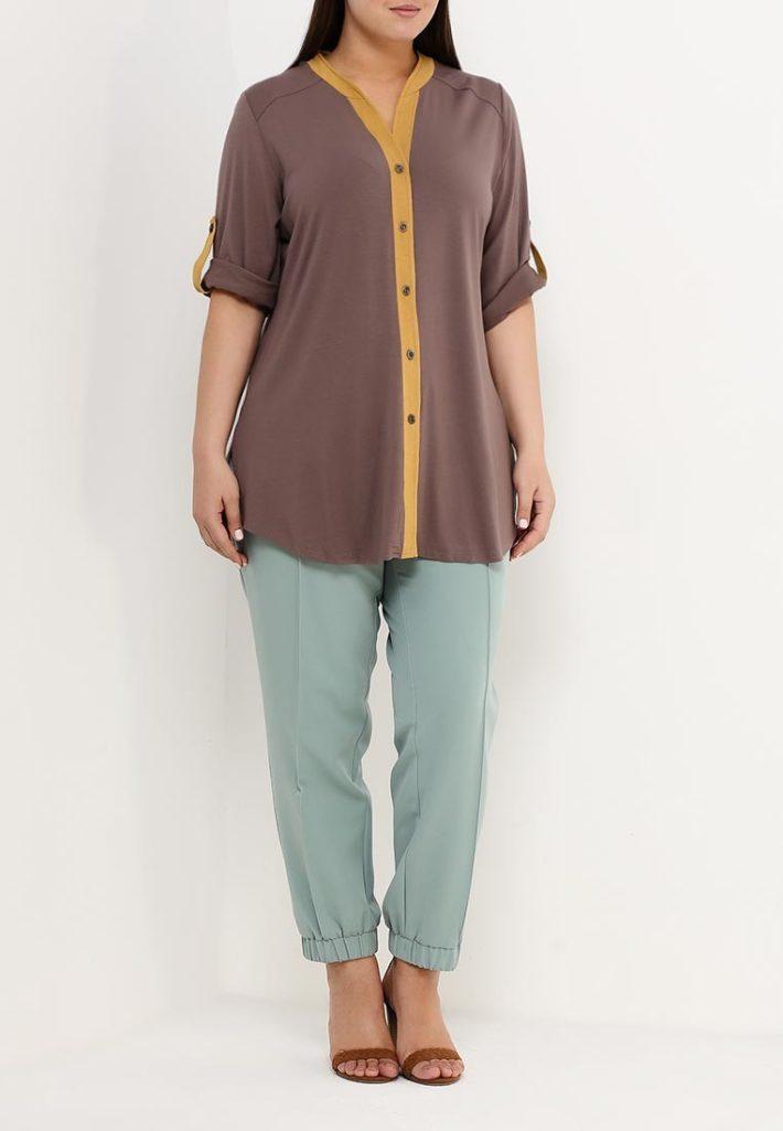 модный лук с блузой