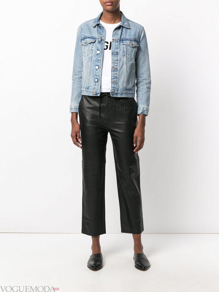 брюки осень зима кожаные