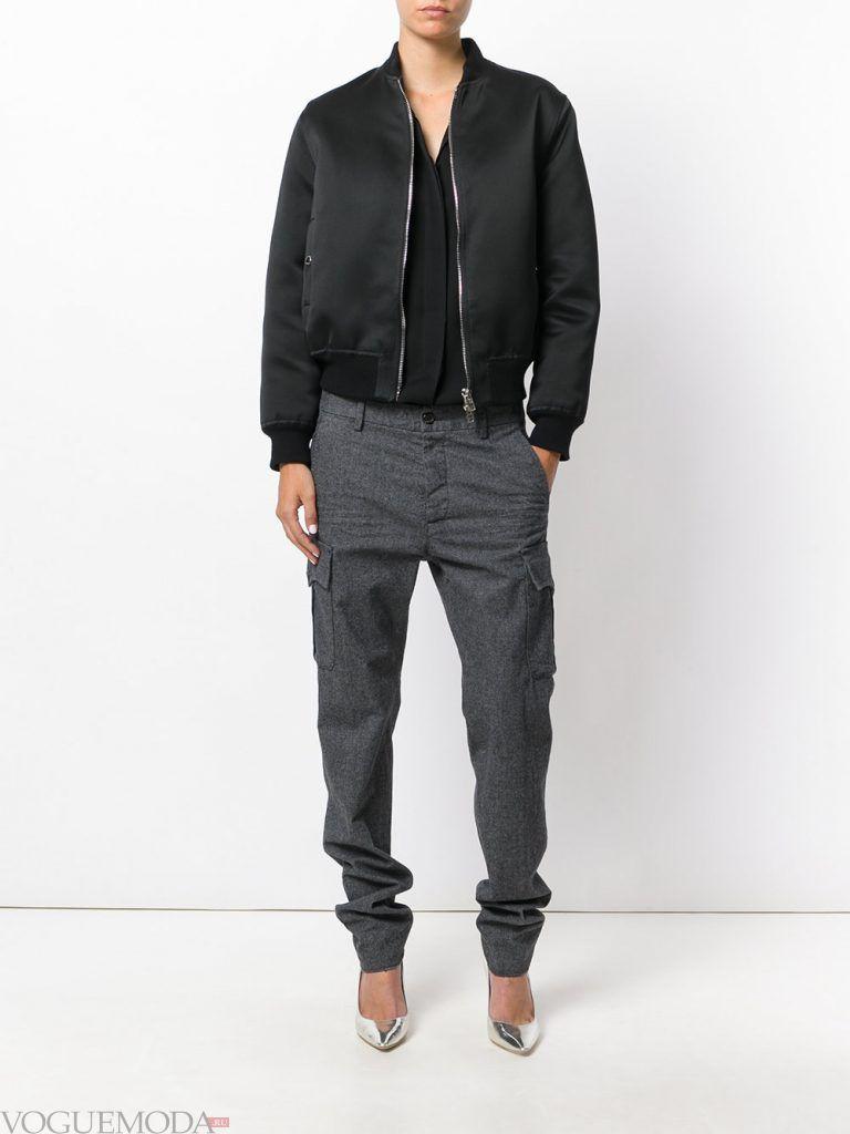 серые брюки осень зима