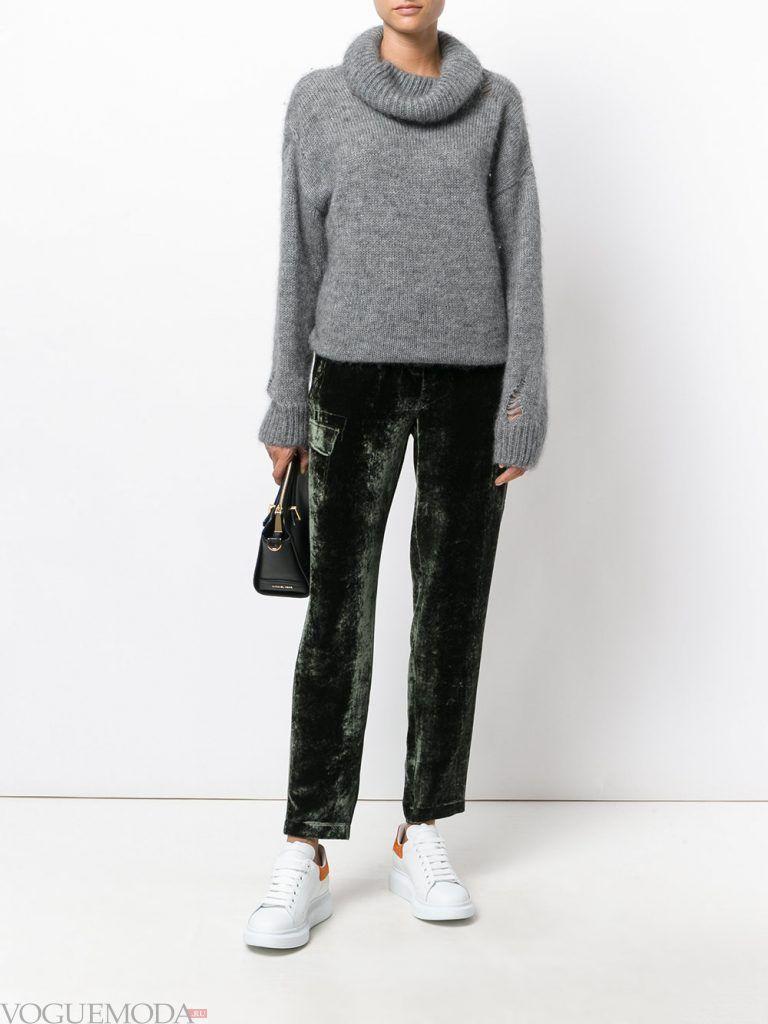 брюки осень зима бархатные