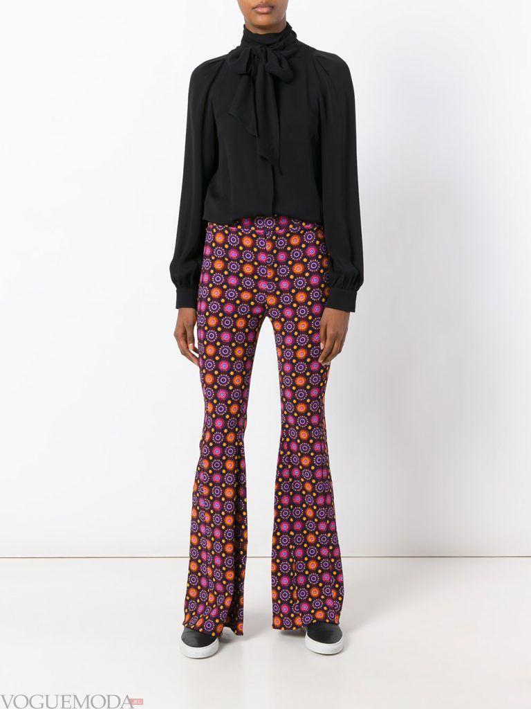 брюки осень зима с принтом