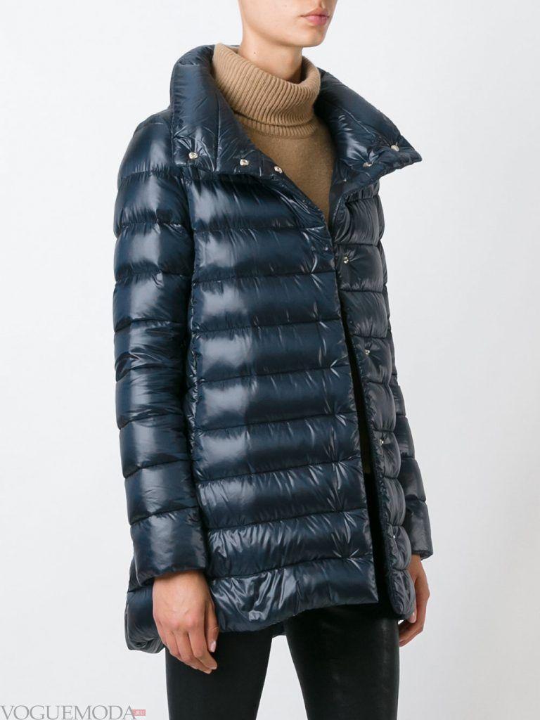 стеганая куртка длинная