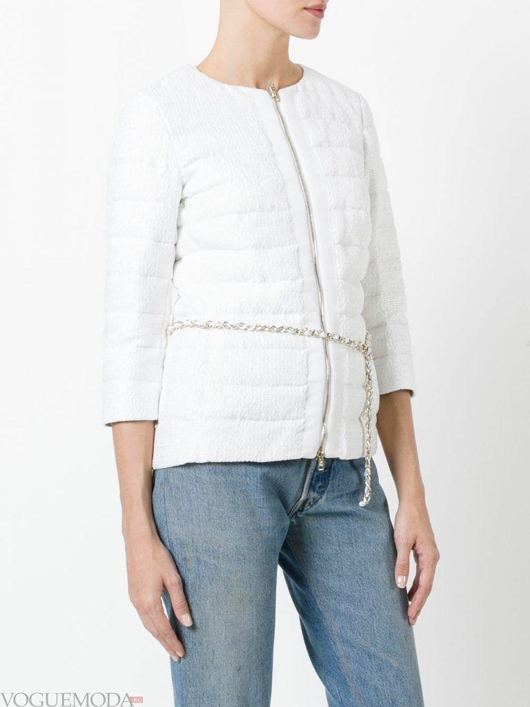 стеганая куртка с поясои