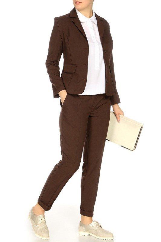 костюм осень зима коричневый
