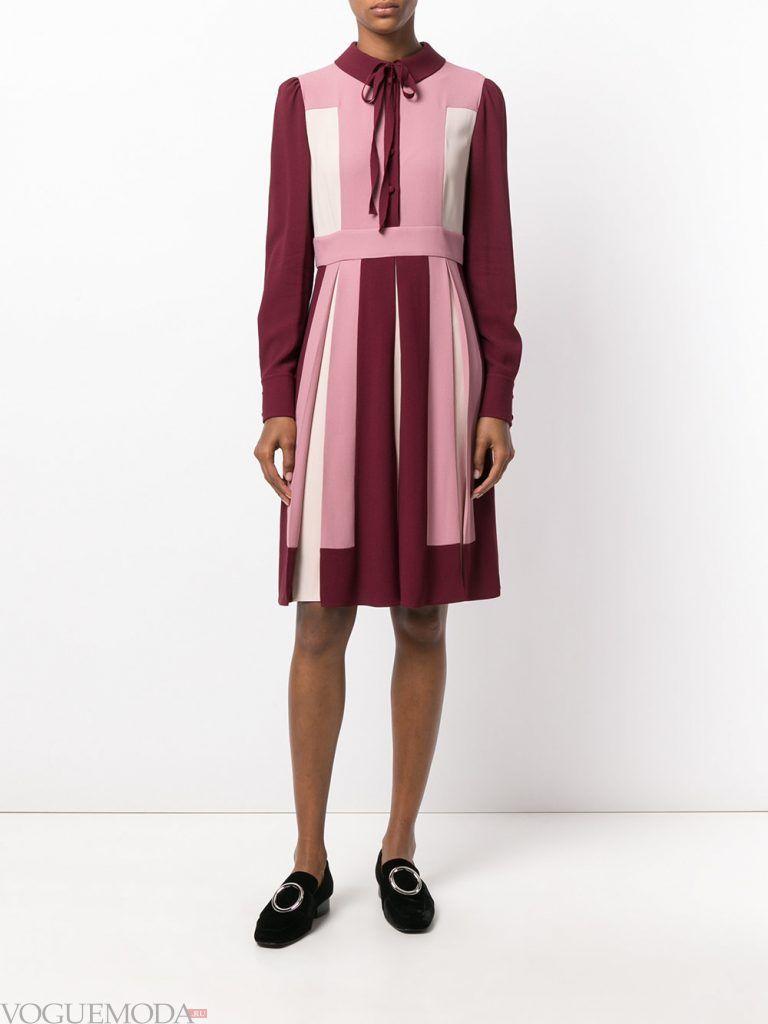 платье осень зима цветное