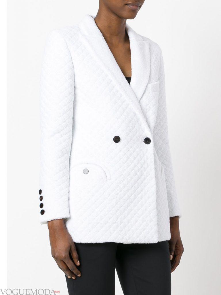 куртка осень зима белая