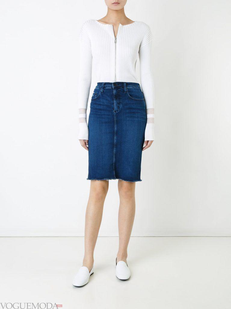 юбка осень зима джинсовая