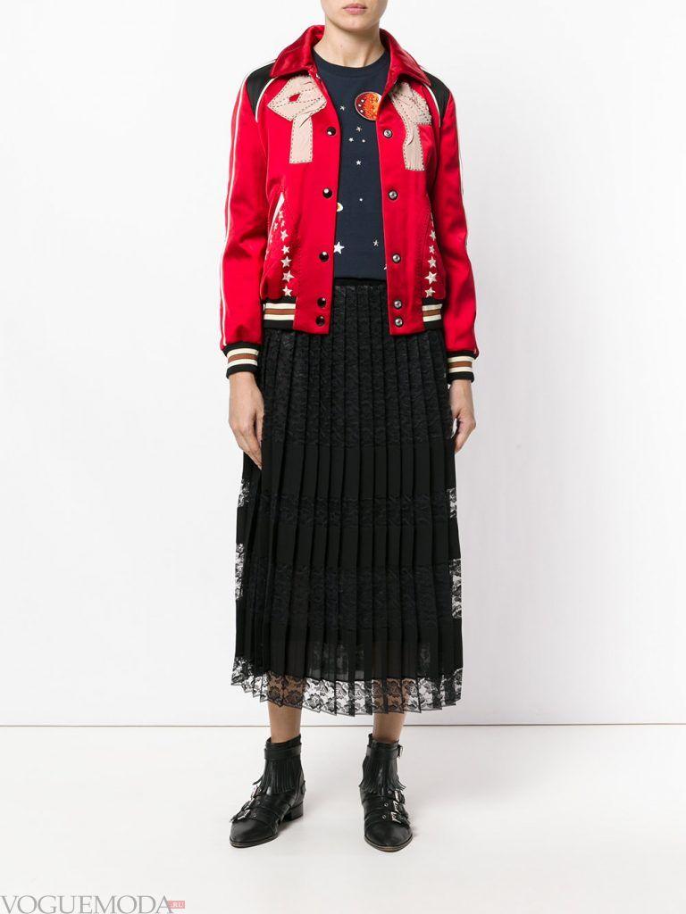 куртка осень зима красная