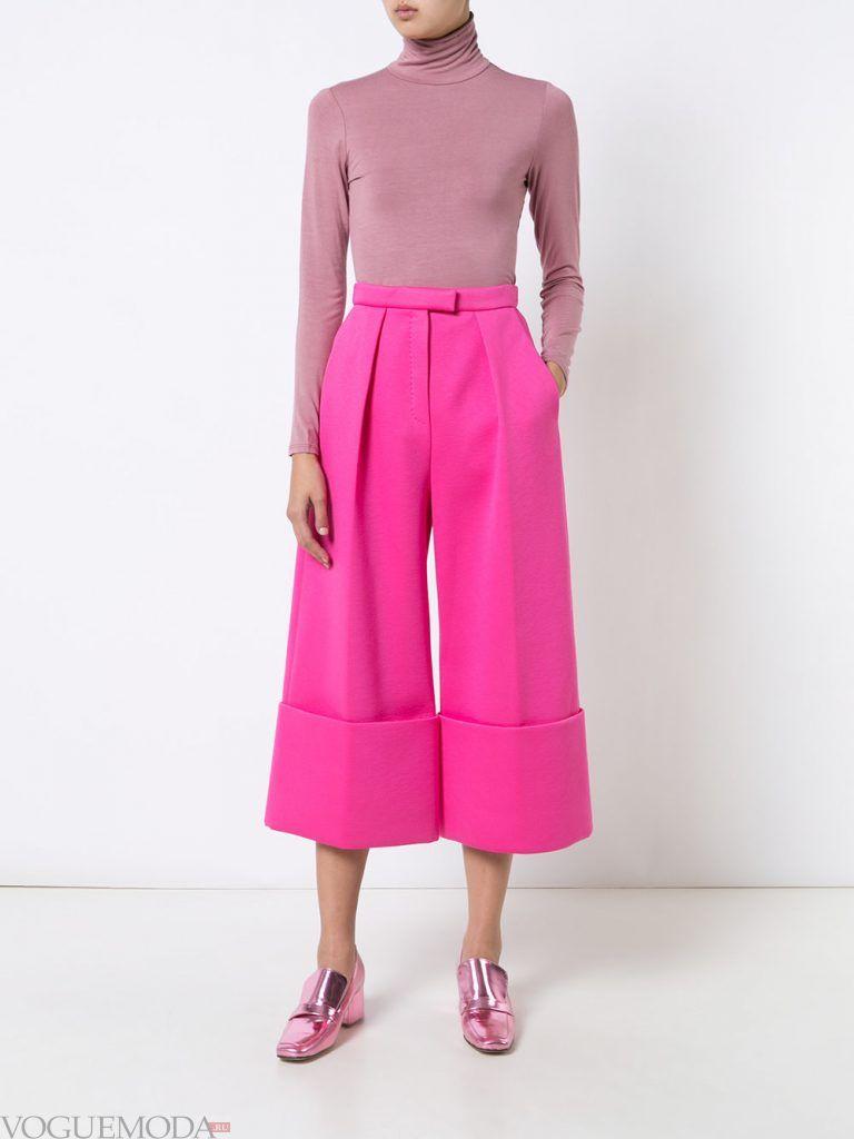 брюки осень зима розовые