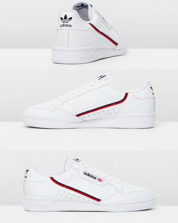 женские кроссовки 2021: белые adidas originals continental 80