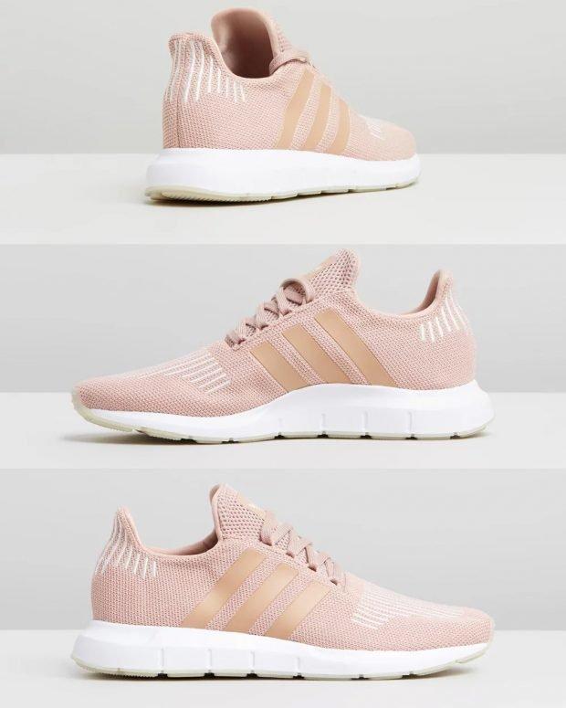 женские кроссовки 2021: розовые adidas originals swirft run