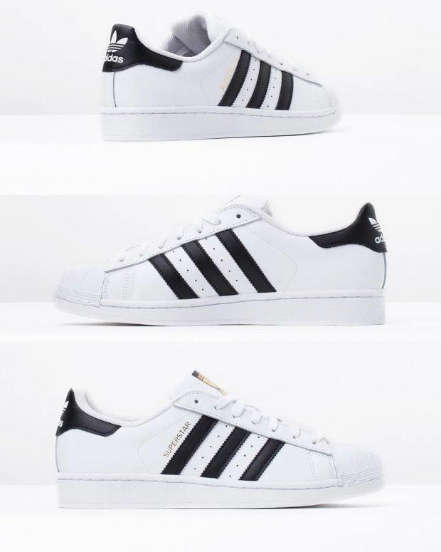 женские кроссовки 2019: белые adidas superstar