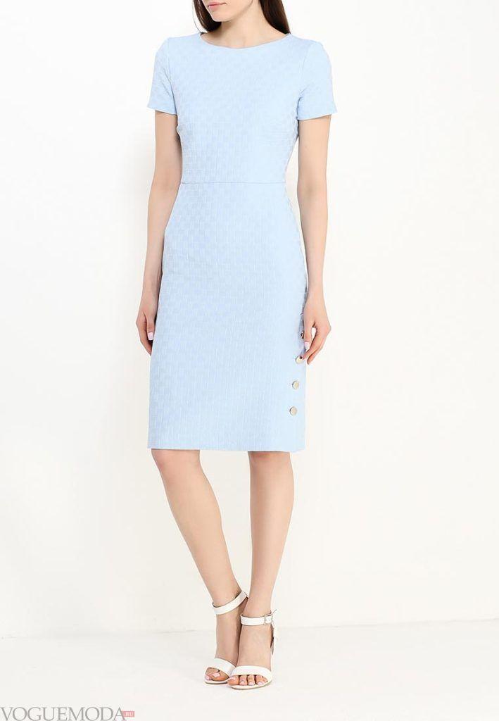 классическое платье голубое