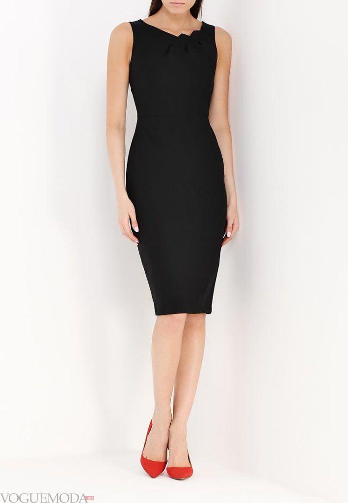 классическое платье чёрное