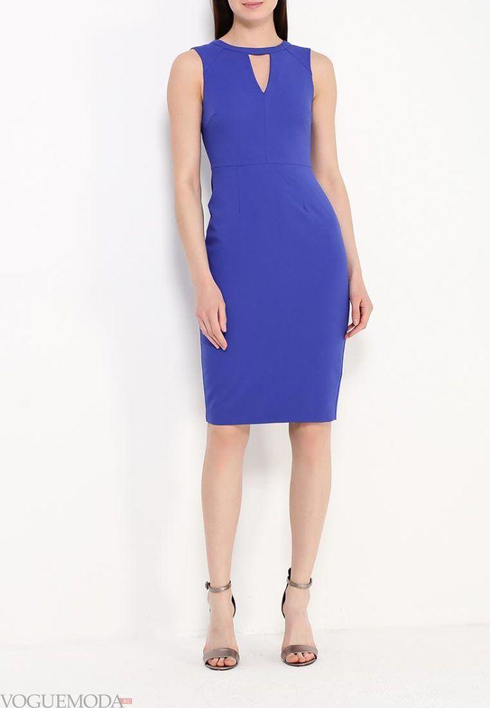 классическое платье синее
