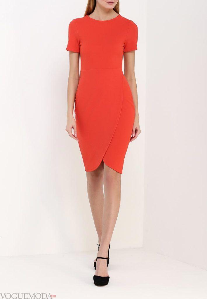классическое платье красное