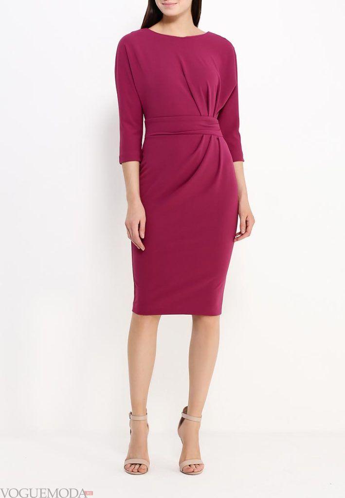 классическое платье бордо