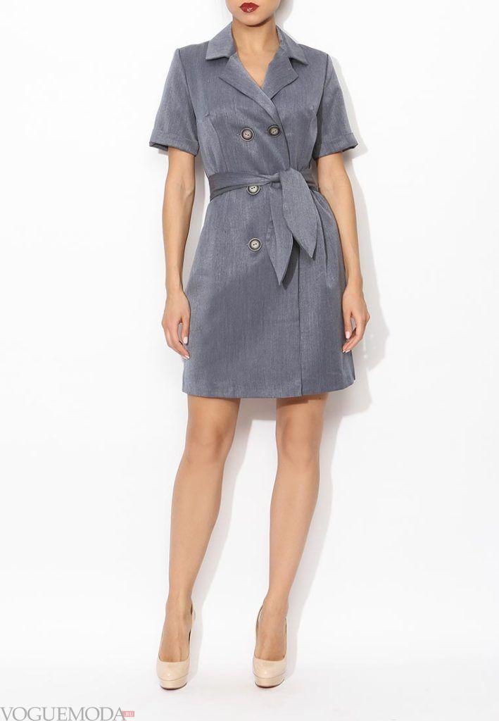 классическое платье с поясом