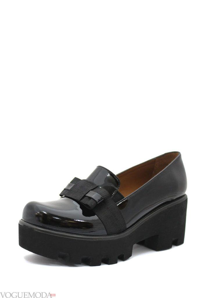 туфли на тракторной подошве чёрные