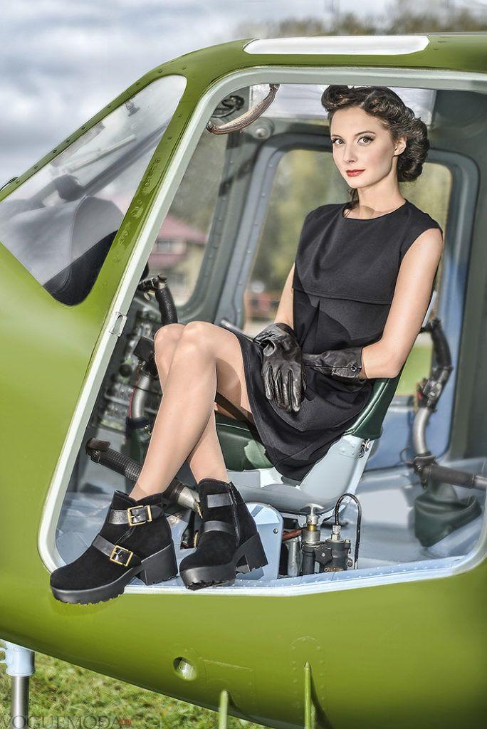 ботинки на тракторной подошве с ремнями