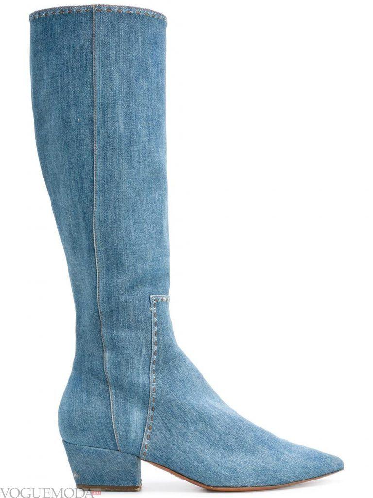 сапоги весна джинсовые