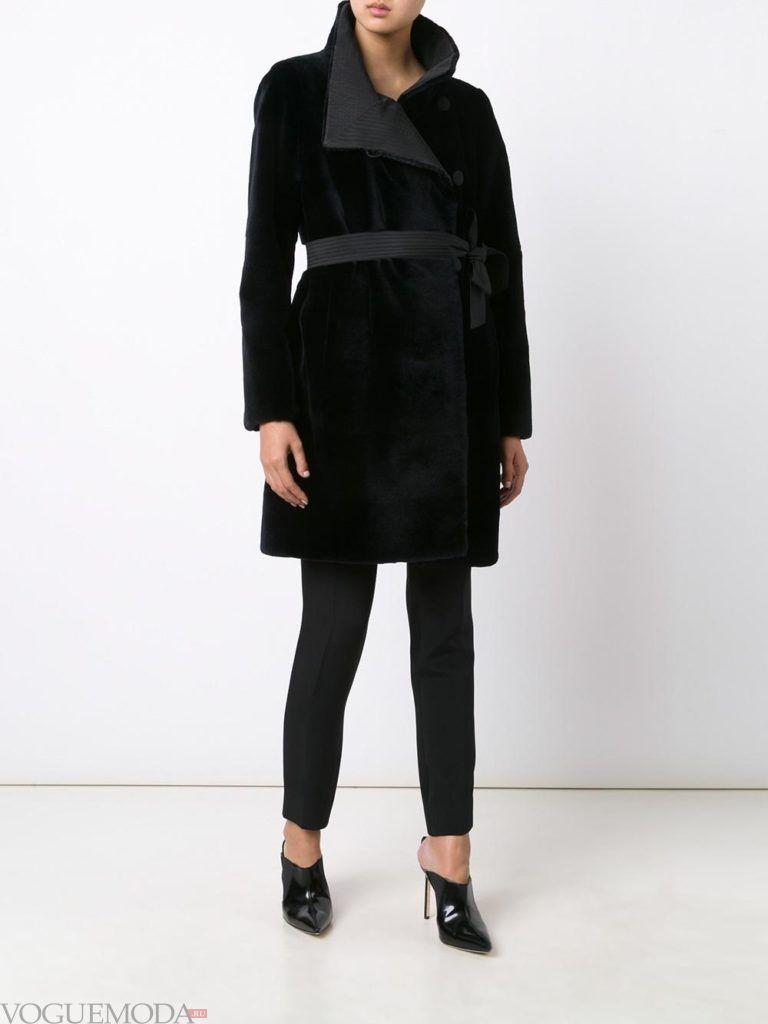 модная шуба: норковая черная