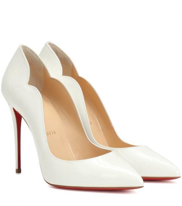 белые туфли лабутены на шпильке