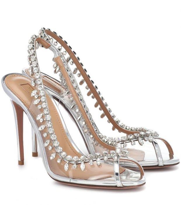 туфли с камнями на шпильке