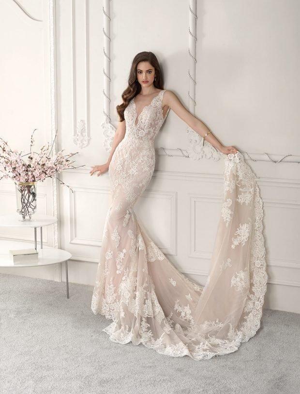 ажурное платье длинное белое