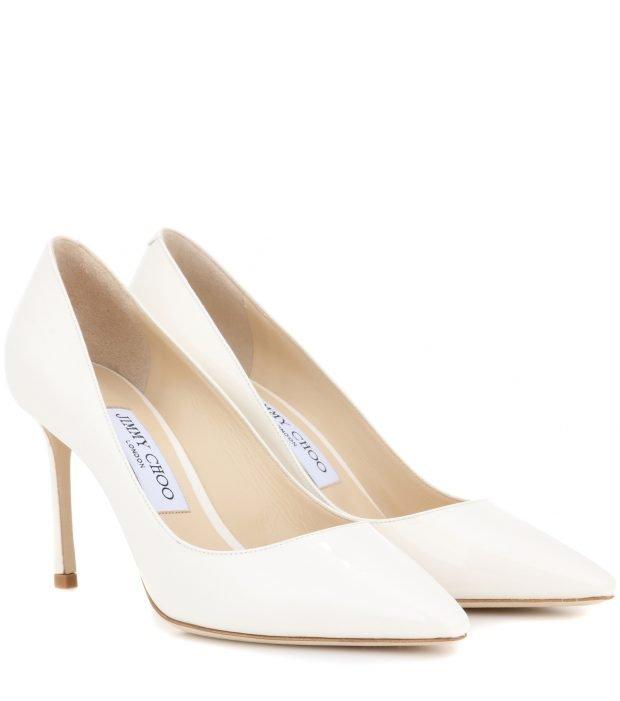 белые туфли Jimmy Choo на шпильке