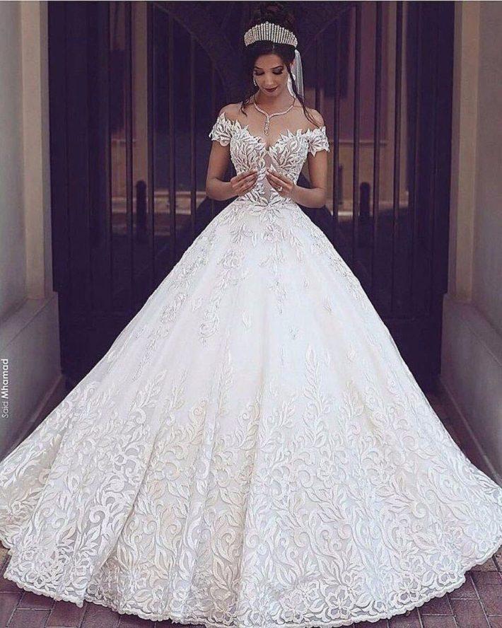 свадебные платья: с орнаментом