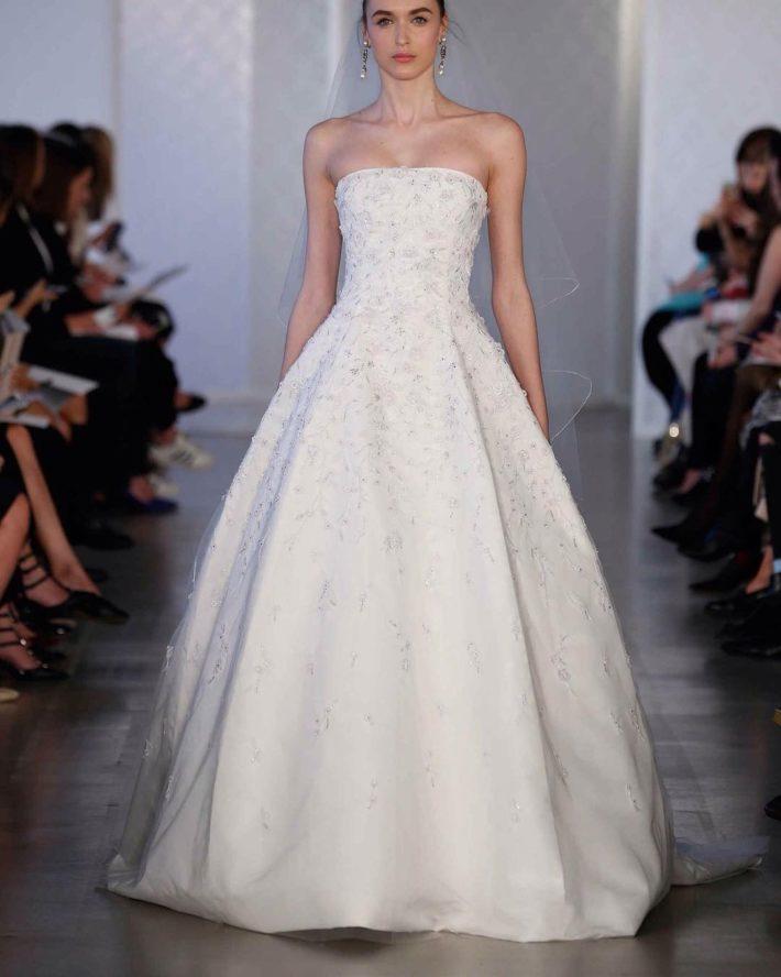 свадебные платья: бюстье пышное