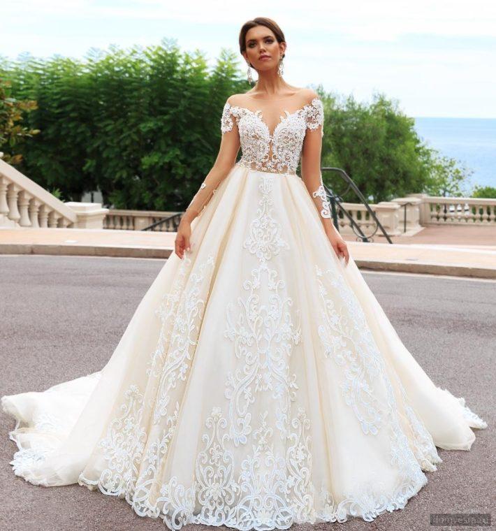 9a2950909be Самые красивые свадебные платья 2019 2020  модные тенденции