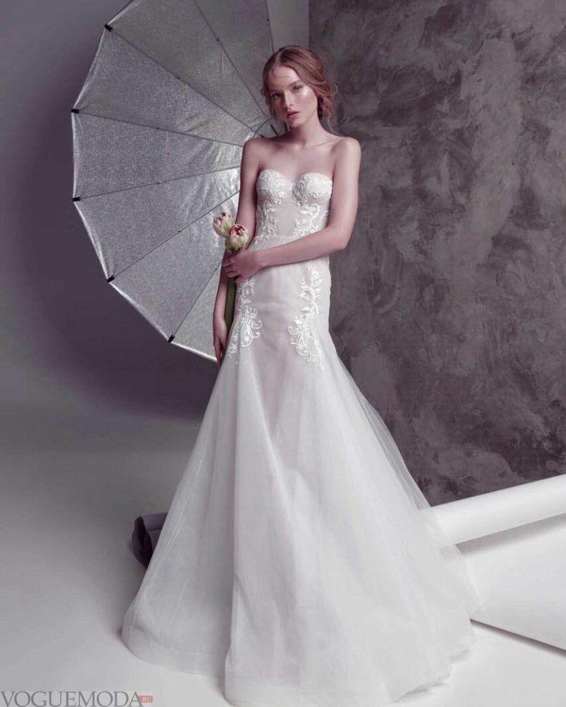 свадебное платье бюстье рыбка