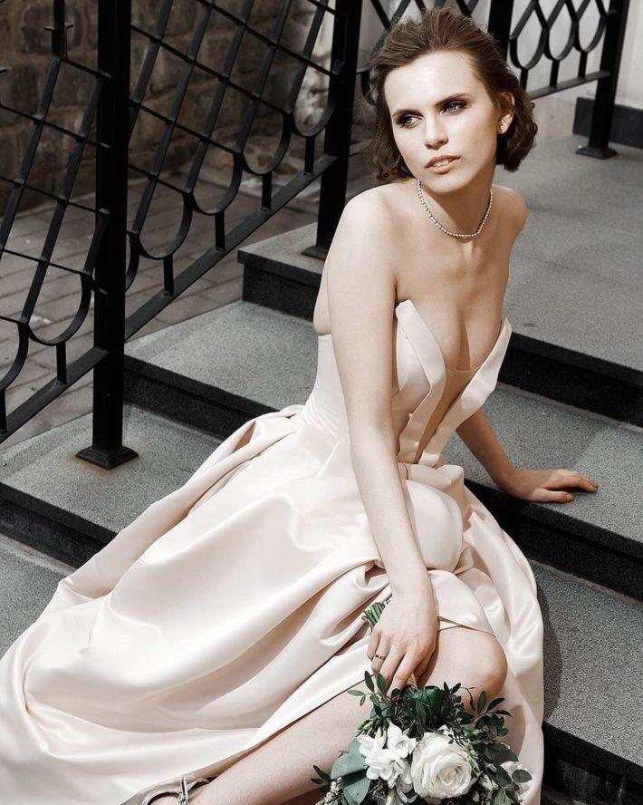 свадебные платья: бюстье шелковое