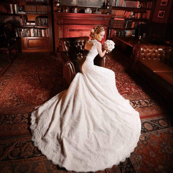 свадебные платья: со шлейфом