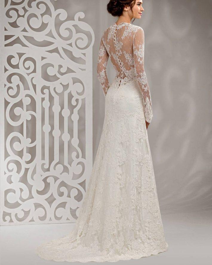 свадебные платья: со шлейфом кружевное
