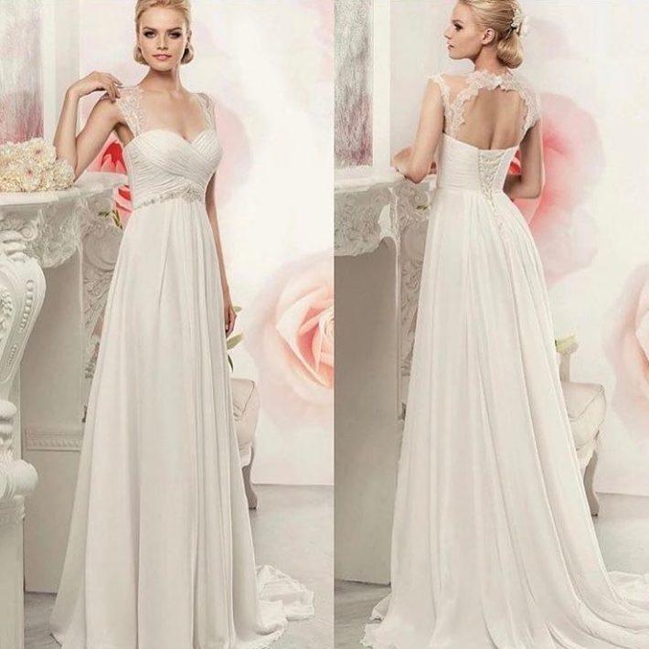 свадебные платья: со шлейфом с переплетом