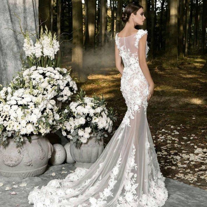 свадебные платья: цвета кофе