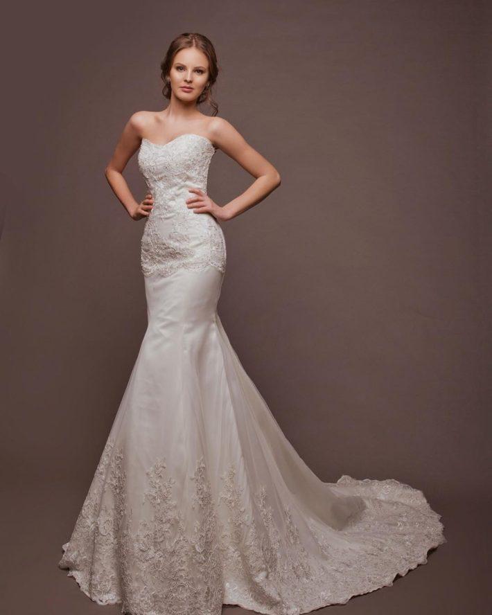 кружевное свадебное платье белое