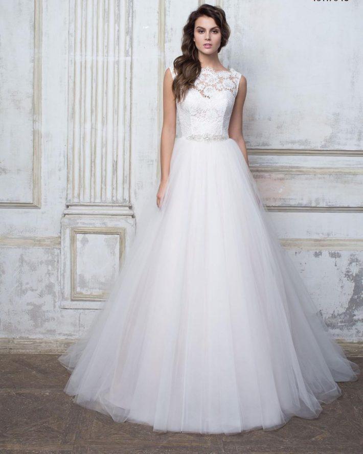 свадебные платья: с кружевным топом