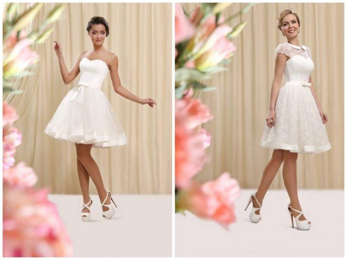 свадебное платье короткое пышное