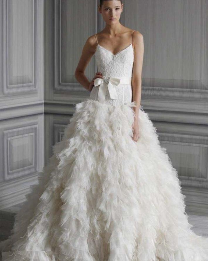 свадебные платья: многослойное