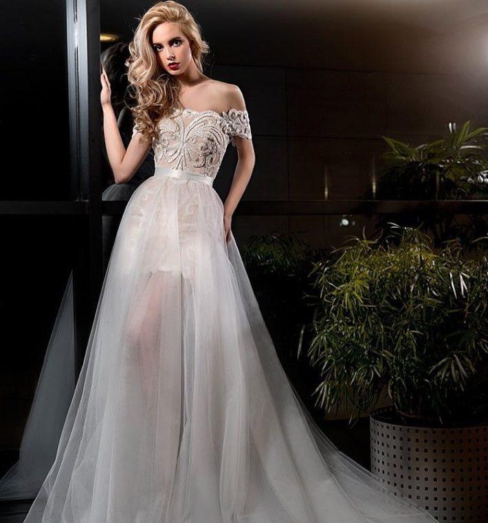 свадебные платья: прозрачное