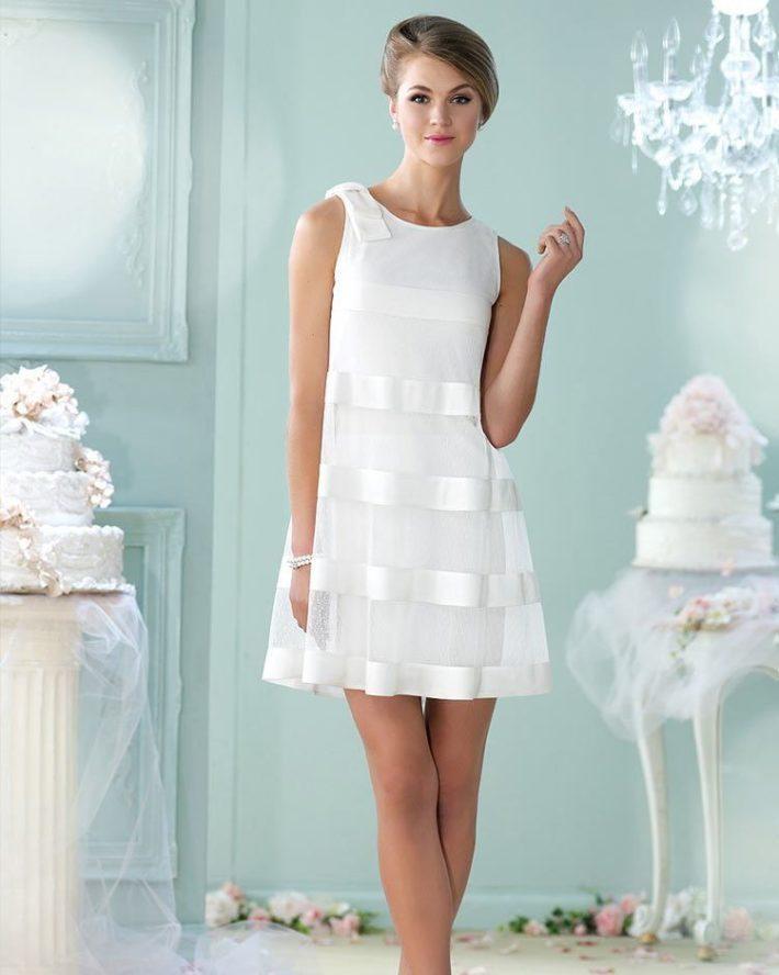 свадебное платье с ленточками