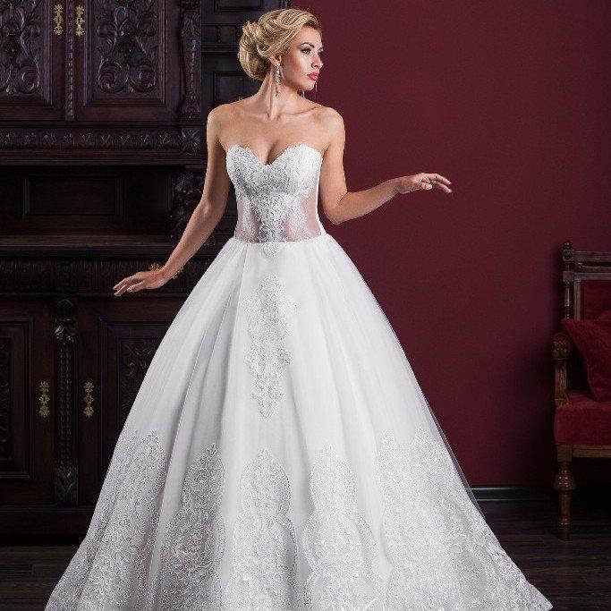 свадебные платья: пышное