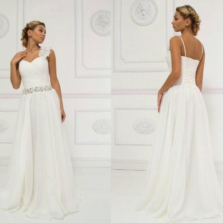 свадебное платье в греческом стиле с декором