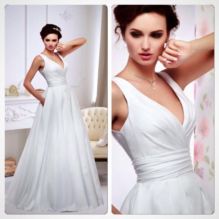 тенденции свадебных платьев: с вырезом